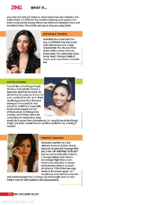 Jai Hind! - Check out which freedom fighter chose by Divyanka Tripathi, Ashita Dhawan, Perneet Chauhan if given a chance they would love to relieve.