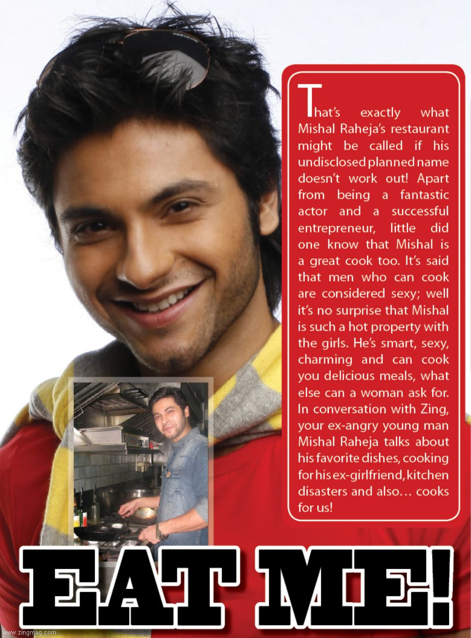 Zing Magazine - August 2011 Issue Page-mishal