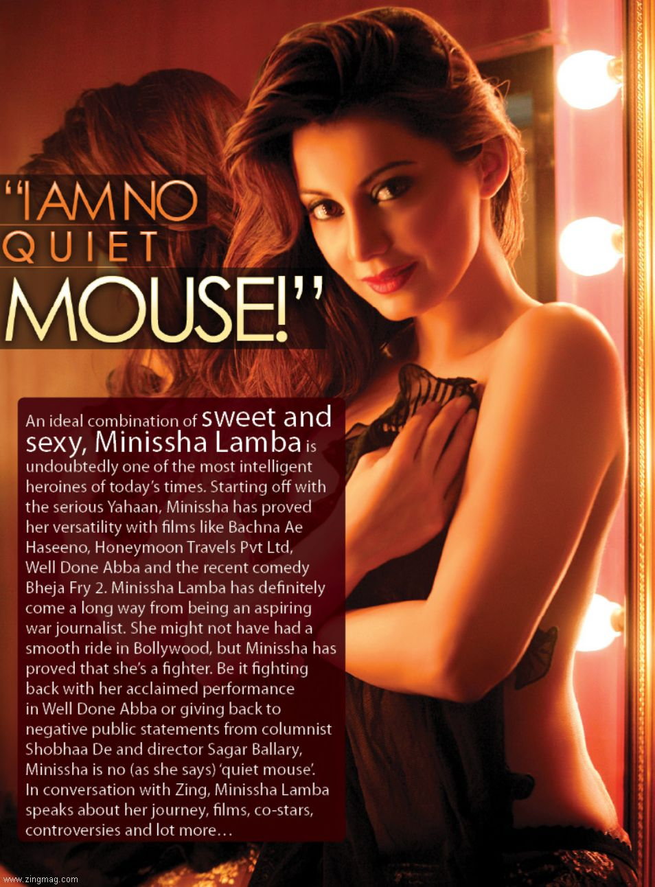 I am no quiet mouse - Minissha Lamba